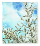 Welcome Vintage Spring Fleece Blanket