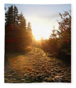 Welcoming Dawn Fleece Blanket