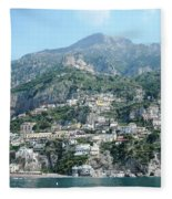 Welcoming Positano Fleece Blanket