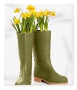 Wellington Boots Fleece Blanket
