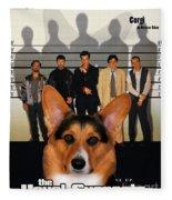 Welsh Corgi Pembroke Art Canvas Print - The Usual Suspects Movie Poster Fleece Blanket