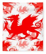 Welsh Dragon Fleece Blanket