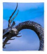 Welsh Dragon Head Fleece Blanket
