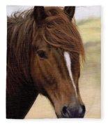 Welsh Pony Painting Fleece Blanket