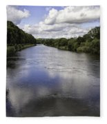 Welsh River Scene Fleece Blanket