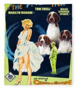 Welsh Springer Spaniel Art Canvas Print - The Seven Year Itch Movie Poster Fleece Blanket