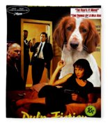 Welsh Springer Spaniel Art Canvas Print - Pulp Fiction Movie Poster Fleece Blanket