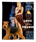 Welsh Terrier Art Canvas Print - Love On A Pillow Movie Poster Fleece Blanket