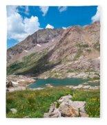 Weminuche Wilderness Area Landscape Fleece Blanket