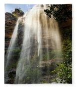 Wentworth Waterfall Blue Mountains Fleece Blanket
