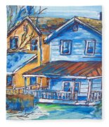 West Cape May Nj Fleece Blanket