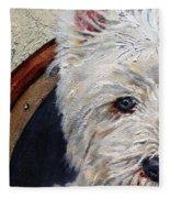 West Highland Terrier Dog Portrait Fleece Blanket