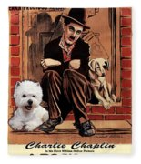 West Highland White Terrier Art Canvas Print - A Dogs Life Movie Poster Fleece Blanket