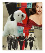West Highland White Terrier Art Canvas Print - All About Eve Movie Poster Fleece Blanket