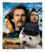 West Highland White Terrier Art Canvas Print - Dances With Wolves Movie Poster Fleece Blanket