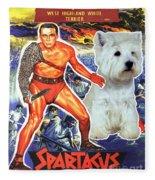 West Highland White Terrier Art Canvas Print - Spartacus Movie Poster Fleece Blanket