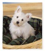 West Highland White Terrier Puppy Fleece Blanket