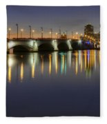 West Palm Beach At Night Fleece Blanket