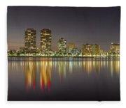 West Palm Beach Skyline Fleece Blanket