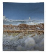 West Pierhead In Ice Fleece Blanket