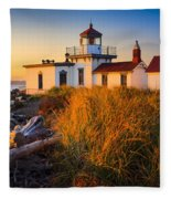 West Point Lighthouse Fleece Blanket