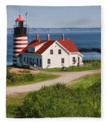 West Quaddy Lighthouse Fleece Blanket