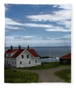 West Quoddy Lighthouse Fleece Blanket