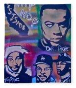 West Side Hip Hop Fleece Blanket