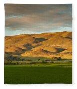 West Side Of Squaw Butte Fleece Blanket