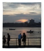 West Side Sunset Fleece Blanket