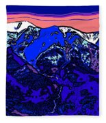 West Spanish Peak- Colorado Fleece Blanket