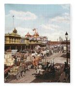 West Street New York 1901 Fleece Blanket