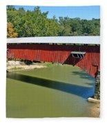 West Union Covered Bridge 2 Fleece Blanket