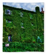 West Village Townhouse Ivy Fleece Blanket