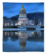 West Virginia Capitol Building Fleece Blanket