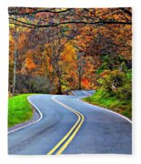 West Virginia Curves 2 Fleece Blanket