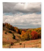 West Virginia Rural Landscape Fall Fleece Blanket