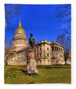 West Virginia State Capitol Building Fleece Blanket