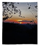 West Virginia Sunset 2 Fleece Blanket