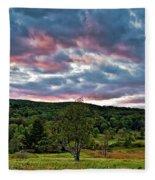 West Virginia Sunset II Fleece Blanket