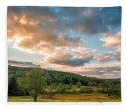 West Virginia Sunset Fleece Blanket