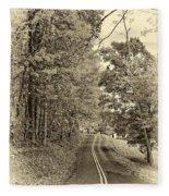 West Virginia Wandering Sepia Fleece Blanket