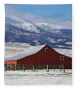 Westcliffe Landmark - The Red Barn Fleece Blanket