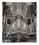 Westerkerk Organ In Amsterdam Fleece Blanket