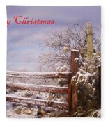 Western Christmas Fleece Blanket