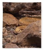 Western Diamondback Rattlesnake Fleece Blanket