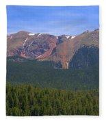 Western Face Pikes Peak Fleece Blanket