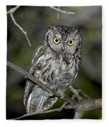 Western Screech Owl Fleece Blanket