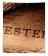 Western Stamp Branding Fleece Blanket
