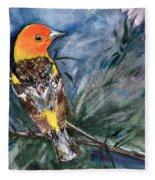 Western Tanager At Mt. Falcon Park Fleece Blanket